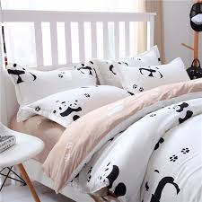 Duvet And Quilt Difference Panda Duvet Doona Quilt Covers Set Pillowcases Queen King All Size