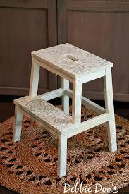 ikea step stool rroom me painting a step stool with rit dye debbiedoos