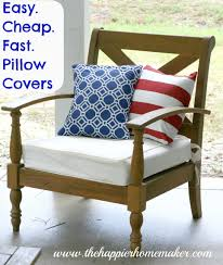 Cool Sofa Pillows by Easy Cheap Fast Diy Pillow Covers The Happier Homemaker