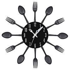 couverts cuisine 4 couleurs moderne ruban multi couleur couverts cuisine horloge