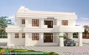 u20b955 lakhs cost estimated white flat roof house kerala home