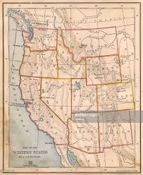 Mexico Map 1800 by Old Color Map Of Western United States From 1800s Stock Photo