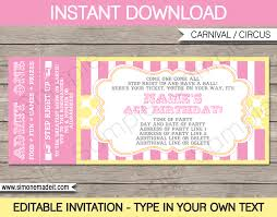 trampoline invitations carnival birthday ticket invitations template carnival circus