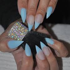 30 creative stiletto nail designs blue stiletto nails claw