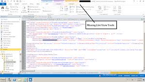 sharepoint designer how to enable the list view tools tab in sharepoint designer 2013