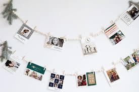 holiday decorating ideas diy garland card display