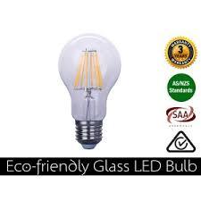eco friendly light bulbs 8w e27 base led filament bulb warm white 800lm