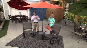 home depot umbrellas solar lights solar lighted umbrella for patio amazon com strong camel cantilever