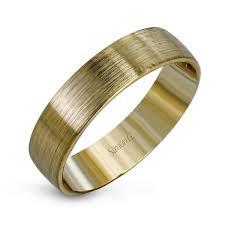 brushed gold wedding band 14k brushed yellow gold modern men s wedding band simon g