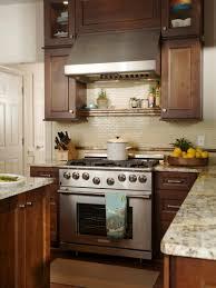 kitchen refrigerator cabinets kitchen laminate ceramic floor wooden countertop gas range hood
