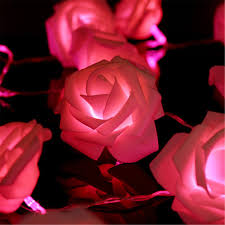 Curtain Lights Amazon by Amazon Com Kingso 20 Led Battery Operated Rose Flower String