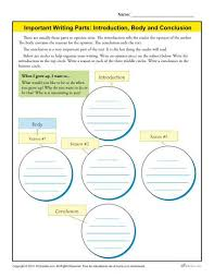 introduction body and conclusion worksheet for 3rd grade