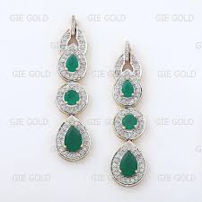 dangler earrings diamond emerald dangler earrings jewels of jaipur