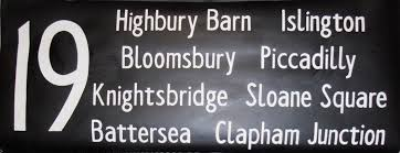Highbury Barn London White On Black Numbered Destinations Numbered Destinations