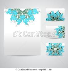 Business Cards And Headed Paper Vector Clip Art Of Set Of Blank Templates Business Cards And