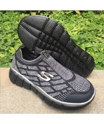 Sepatu Skechers Laki skechers gowalk 2 sock 2 sneakers hitam page 2