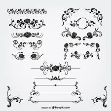 floral decorations and page dividers vector free