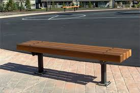 park benches series d benches custom park leisure