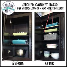 Kitchen Cabinet Shelf kitchen shelf hack create more storage space