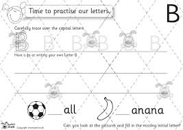 pet letter formation upper case b u0026 w premium printable