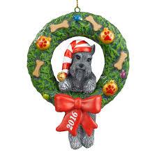 2016 annual miniature schnauzer ornament the danbury mint