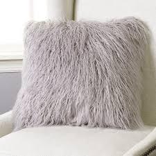 Faux Fur Throw Pillow Faux Fur Pillows Colors Simple Faux Fur Pillows For Glamorous