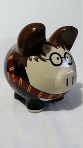 Monogrammed Piggy Bank Personalized Handpainted Piggy Bank Large Harry By Pigpatrol
