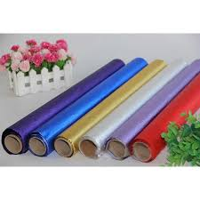 foil wrapping paper tin foil paper gift packaging paper wrapping paper solid color