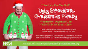cornerstone high ministry ugly sweater christmas party