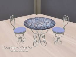 Southern Comfort Cafe Second Life Marketplace Outdoor Cafe Table U0026 Chairs Set