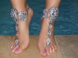 barefoot sandals for wedding jeweled barefoot sandals wedding foot bling vacation jewelry