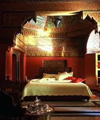 moroccan decor bedroom decor with style and blue comfort bed and