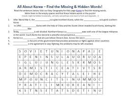 korea worksheet free online printable geography worksheets