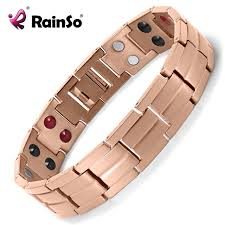 man titanium bracelet images Rainso healing double row 4 elements magnetic men negative ion jpg