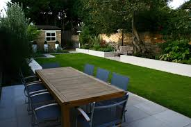 Family Garden Modern Family Garden In Battersea With Patio Lighting Planting