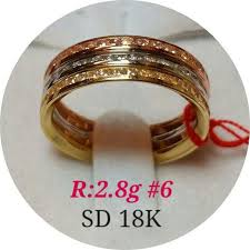 tricolor ring 18k tricolor ring 2 8g real saudi gold women s fashion on carousell