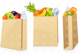 grocery shopping bags vector clipart image 4786 u2013 rfclipart