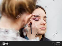 Professional Makeup Artistry Professional Makeup Artist Doing Image U0026 Photo Bigstock