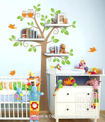 Brown Tree Wall Decal Nursery Tree Wall Decals For Zebragarden Me