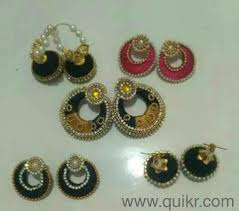 home made earrings silk thread earrings and bangles home made price is different for