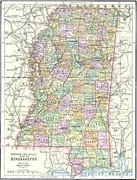 County Map Of Mississippi Mississippi Maps
