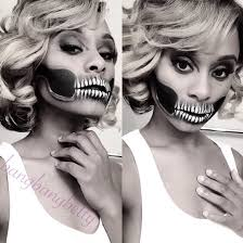 Halloween Skeleton Faces by Scary Skeleton Mouth Halloween Makeup Makeup Pinterest