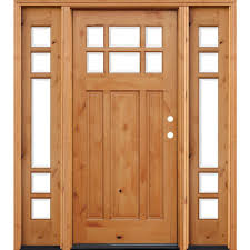 Knotty Alder Cabinet Stain Colors by Pacific Entries 70 In X 80 In Craftsman Rustic 6 Lite Stained