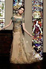wedding dress kebaya refined chiffon wedding dress with bowtie sash and low cut back