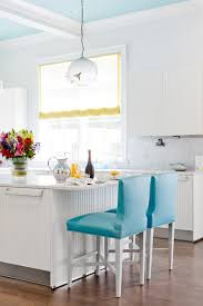 turquoise bar stools contemporary kitchen architectural digest