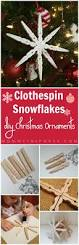 diy christmas ornaments clothespin snowflakes kristen hewitt