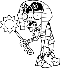 plants vs zombies coloring pages mummy ra zombie coloringstar