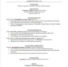 Musical Theater Resume Sample by Teen Resume 22 For Teenager Best Template Collectionresume No Work
