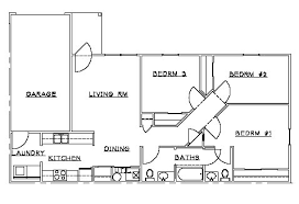 Spacious 3 Bedroom House Plans Available Two And Three Bedroon Floor Plans