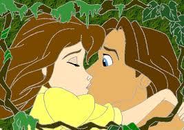 tarzan jane kiss ninjagirlrebecca deviantart